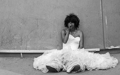 A guy in a wedding dress getting high (Frederik Trovatten) Tags: streetphotography people mexico drugs addiction portrait bnw black society cdmx mexican problem blackandwhite street streets streetphotographer streetportrait