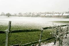 King John's Walk Snowy View (Matthew Huntbach) Tags: kingjohnswalk eltham snow fujicolor100 se9 view