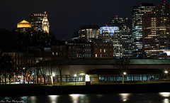 Sublime Cityscape view from Charlestown Waterfront (kuntheaprum) Tags: cityofboston nightscape longexposure nikon d80 samyang 85mm f14 sigma 50mm water boat