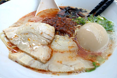 restoring my excitement for ramen (n.a.) Tags: ippudo crossrail canary wharf ramen noodle soup tonkotsu 24 hour pork bone broth japanese food karaka men simmered belly medma bamboo shoots beansprouts