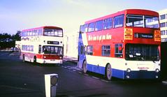 Slide 117-64 (Steve Guess) Tags: southampton hants hampshire england gb uk bus hampshirebus dms daimler fleetline lt london transport citybus leyland atlantean