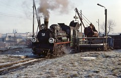 Gniezno PKP  |  1993 (keithwilde152) Tags: px481927 gniezno wielkopolska pkp poland 1993 town yard tracks servicing equipment narrow gauge landscape steam locomotives outdoor spring