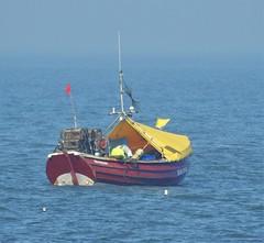 Traditional Coble - Fishing Off Cresswell Beach (Gilli8888) Tags: nikon p900 coolpix nature northeast northumberland water cresswell cresswellbeach coble boat fishingboat coast coastal northsea