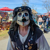 Face Off (Kevin MG) Tags: irwindale renaissancefaire renaissance renfaire faire dancemacabre performer parade music musician mask horn costume