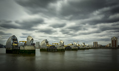Thames Barrier (cliveg004) Tags: thamesbarrier woolwich riverthames thamesestuary le longexposure clouds sky water city urban engineering architecture nikon d5200