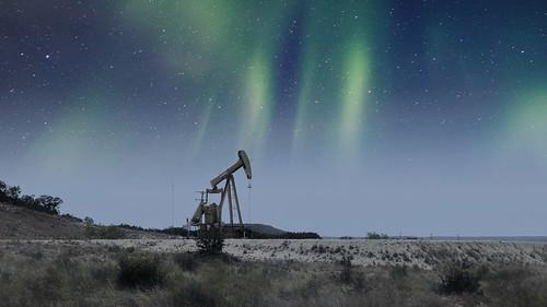 Oilfield Pumpjack in West Texas - Color Version #jcutrer