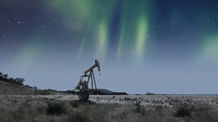 Oilfield Pumpjack in West Texas - Color Version #jcutrer (joncutrer) Tags: polarr oilwell oil texas westtexas stars night nightsky royaltyfree creativecommons petroleum oilgas energy oilfield pumpjack jcutrer