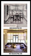 Top photo is the from Good Housekeeping Aug, 1933 of a steel-framed model home for the 1933 World's Fair. Bottom is current, as the historic home awaits demo. (neilsharris) Tags: 1933world'sfair stransteel abandonedchicago