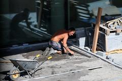 Men @ Work (Rick & Bart) Tags: hasselt belgium cityhall construction building rickvink rickbart canon eos70d men menatwork streetphotography strangers candid everydaypeople