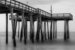 Margate City, New Jersey (PMillera4) Tags: margate margatecity newjersey jerseyshore beach fishingpier blackandwhite longexposure