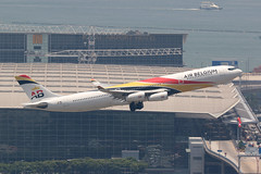 OO-ABA, Air Belgium, A340-300, Hong Kong (ColinParker777) Tags: ooaba kf air belgium airlines airlways airliner airplane aircraft aviation travel aeroplane plane fly flight takeoff departure terminal regal airport hotel chek lap kok hkg vhhh hong kong canon 7d 7d2 7dmk2 7dii 7dmkii 200400 l lens zoom telephoto dslr pro airbus a340 340 343 a343 340300