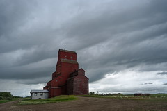 Beatty (TigerPal) Tags: saskatchewan beatty canada prairie plains abandoned forgotten grainelevator elevator cloudy overcast backroads explorer dustyroad gravelroad agriculture rural ruraldecay rurex