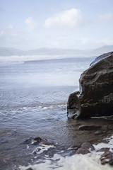 freedom carved into stone (allanodyne) Tags: ireland rock stone water ocean sea atlantic wildatlanticway beach longexposure sky cloufs clouds texture structure beautiful landscape seascape waves cascades