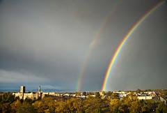 Denver Double Rainbow (Kevin Bauman) Tags: denver colorado storms storm rainbow clouds