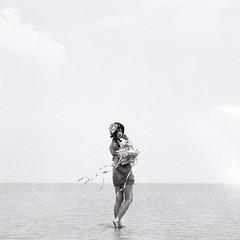 Adekan (bdrc) Tags: agfa isolette agnar 85mm f45 manual legacy vintage classic prime relic folding camera 6x6 mf mediumformat film ilford fp4 black white monochrome blackandwhite contrast day outdoor people portrait girl asdgraphy photoshoot selangor sasaran tsuyu sei malaysia malaysiaphotographer adekan shiro yoshiwara sea water