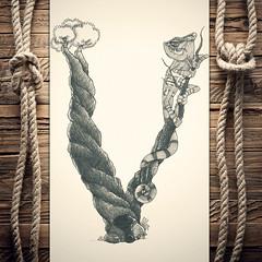 Vameleon (reXraXon) Tags: art artwork pencilart drawing handdrawing sketch pencilsketch typography lettering handlettering letteringart chameleon tree
