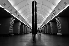 Karlovo náměstí Metro Prague (Lou-bella) Tags: sonya6000 a6000 ilce6000 sel18105g metro prague blackwhite city sonyflickraward karlovo náměstí