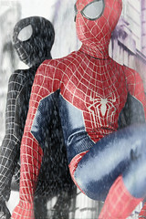A-Z Challenge 2.0: R - Reflection (MARVEL_DOLLS) Tags: hottoys theamazingspiderman spiderman2 spiderman 16scale 16 collectible figure movie marvel marvelcomics comicbook toy peterparker symbiote red blue blacksuit superhero az dollphotography challenge reflection mirror window buildings rain fog