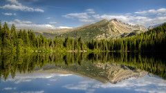 Bear Lake (Paul Domsten) Tags: bearlake colorado rockymountainnationalpark rmnp mountain pentax reflections landscape beauty nationalpark lake water tree sky