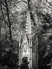 20180518-0106-Edit (www.cjo.info) Tags: 19thcentury 19thcenturyneogothic bw christianity england europe europeanunion highgate highgatecemetery highgatecemeterywest london m43 magnificent7 magnificentseven magnificentsevengardencemeteries microfourthirds nikcollection olympus olympuspenfgzuikoautos40mmf14 olympuspenf penfmount silverefexpro silverefexpro2 unitedkingdom victoriangothic westerneurope architecture blackwhite blackandwhite carving cemetery churchcathedral classiclens death decay digital flora gothic gothicrevival gravegraveyard legacylens manualfocus monochrome overgrown plant religion religiousbuilding spire stone stonework tree victorian wood wooded