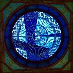 Edinburgh Waverley Station, Ticket Hall - ceiling dome (joanneclifford) Tags: trainstation scotland architecture ceilingdome glasswork waverleystation edinburgh