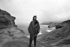 (SamBHart) Tags: nikonfm2 35mmfilm bw bwfilm blackandwhite 24mmlens nikkor autobiographical personal friends capekiwanda oregon statepark oregoncoast coast ocean overcast foggy