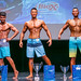Novice Men's Physique 2nd Abhimanyu Sharma 1st Jeffery Lin 3rd Weijian Mai