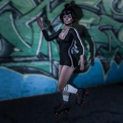 Peace Skates (BabyGirlMoni) Tags: secondlife muff muffin moni monica skates cute sexy elf peace exercise