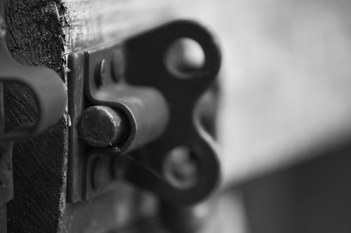 The old gate lock