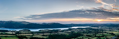 Bassenthwaite Lake (Daniel Coyle) Tags: bassenthwaitelake bassenthwaite lake lakedistrict cumbria nationaltrust natural nature danielcoyle nikon nikond7100 d7100 uk england sunset hills fells mountains mountain countryside view panorama panoramic clouds fields water sky