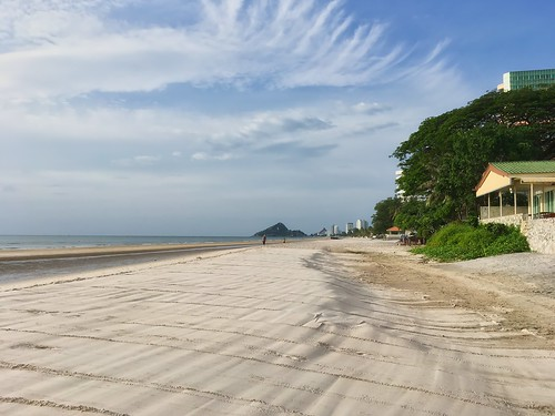 Beach in front of Sailom hotel in Hua Hin, Thailand