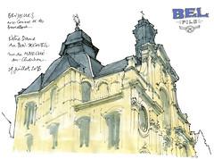 Bruxelles, Notre-Dame de Bonsecours (gerard michel) Tags: belgium brussels bruxelles architecture église baroque sketch croquis aquarelle watercolour
