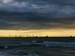GOOD EARLY MORNING ABERDEEN BEACH (eefzed) Tags: landscape nature northsea beach morning birds waves sunrise sea windmill uk scotland aberdeen aberdeenscotland aberdeenbeach