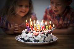 Birthday (Reckless Times) Tags: birthday cake kid child girl boy candles happy celebration party dark happybirthday nikon d750 100x project