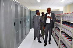 HMIC Alh. Lai Mohammed and journalists on a tour of the Abuja Light Rail Project