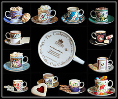 2018: Coalport Museum Historic Coffee Cup Collection collage (dominotic) Tags: 2018 coffeeobsession food drink biscuit confectionery coffeecupandsaucer thecoalportmuseumhistoriccoffeecupcollection coffee yᑌᗰᗰy blackbackground collage coffeefoodcollage sydney australia