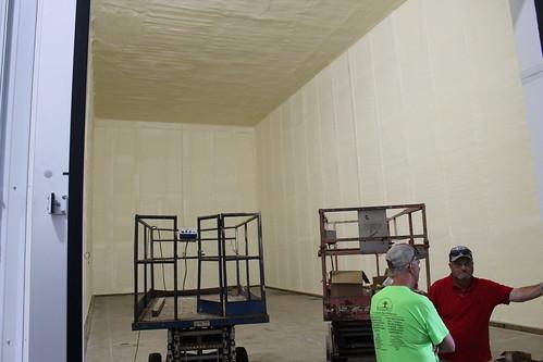 Touring Patrick Goodfellow's new storage facility.