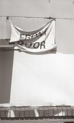 Front Door (efo) Tags: bw film 828 kodakbantamspecial oakland california frontdoor sign