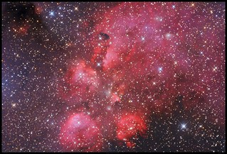 The Cat's Paw Nebula ( NGC 6334 ) in Scorpius - by Mike O'Day ( http://500px.com/MikeODay )