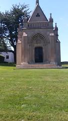French gothic mausoleum; no name on it (sftrajan) Tags: gothicrevival chapel mausoleum frenchgothic cypresslawnmemorialpark cemetery colma california cypresslawn cementerio cimetière friedhof գերեզմանոց gothicrevivalarchitecture