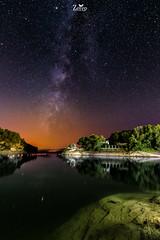 Embalse del conde de Guadalorce (Juan A. Zerep) Tags: nocturna long exposure via lactea malaga guadalorce del conde embalse estrellas