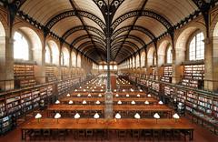 Bibliotheque Sainte Genevieve (thomaslaconis) Tags: bibliothequesaintgenevieve paris sorbonne library bibliotheque university universite alone nobody france