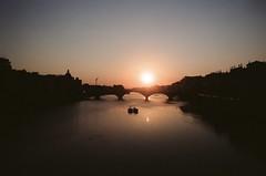 Tramonto Fiorentino (michele.palombi) Tags: river arno florence film 35mm kodak ektar100 tuscany sunset analogic negativo colore