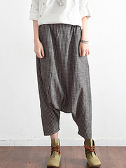 Women Loose Stripe Cotton Hemp Harem Pants (1298504) #Banggood (SuperDeals.BG) Tags: superdeals banggood clothing apparel women loose stripe cotton hemp harem pants 1298504
