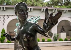 Taking Flight (dayman1776) Tags: sony a6000 brookgreen gardens bronze sculpture statue escultura skulptur south carolina female nude figure figurative sensual breasts america usa garden