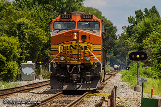 BNSF 5351   GE C44-9W   CN Shelby Subdivision