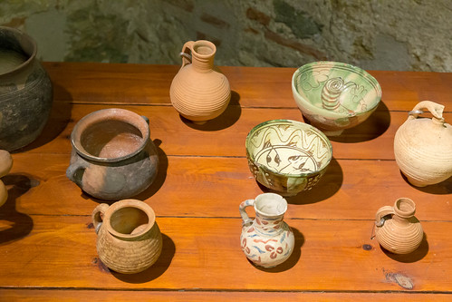 Ancient pottery at White Tower Museum