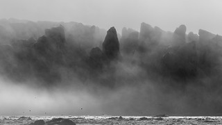 Fog rolling across the Ice Sheet
