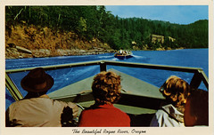 The Beautiful Rogue River, Oregon (SwellMap) Tags: postcard vintage chrome roadside