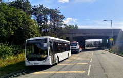 Briggs Coaches,Swansea. (Woolfie Hills) Tags: briggs coaches swansea depot mx05 eky optare tempo 7
